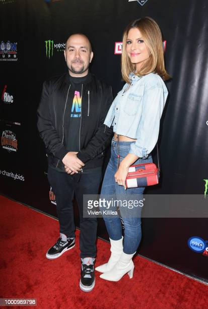 Peter Rosenberg and Maria Menounos attend 50K Charity Challenge Celebrity Basketball Game at UCLA's Pauley Pavilion on July 17 2018 in Westwood...
