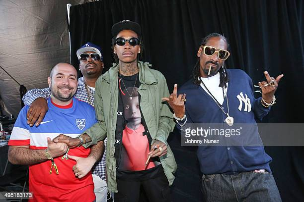 Peter Rosenberg Daz Dillinger Wiz Khalifa and Snoop Dogg attend Hot 97 Summer Jam 2014 at MetLife Stadium on June 1 2014 in East Rutherford City