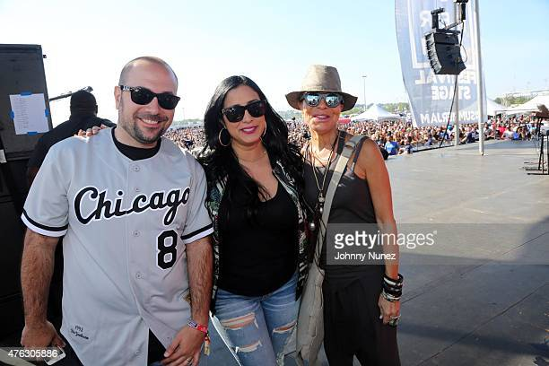 Peter Rosenberg Laura Stylez and Sylvia Rhone attend 2015 Hot 97 Summer Jam at MetLife Stadium on June 7 in East Rutherford New Jersey