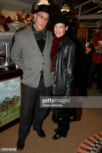 Peter Rosenthal and Amy Rosi attend MACKENZIECHILDS Holiday Store Unveiling benefitting BEST BUDDIES at MacKenzie Childs on November 9 2010 in New...