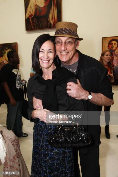 Peter Rosenthal and Amy Rosi attend SHEPARD FAIREY 'May Day' Exhibition Opening Reception at Deitch Projects on May 1 2010 in New York
