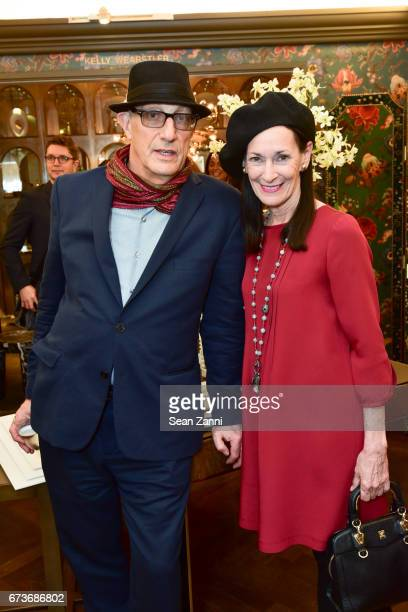 Peter Rosenthal and Amy Rosi attend the Marble Accessories Debut by Designer Spiros Soulis on the Seventh Floor at Bergdorf Goodman on April 26 2017...