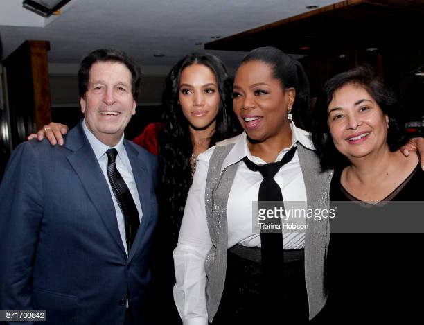 Peter Roth Bianca Lawson Oprah Winfrey and Meher Tatna attend the taping of 'Queen Sugar AfterShow' after party on November 7 2017 in Los Angeles...