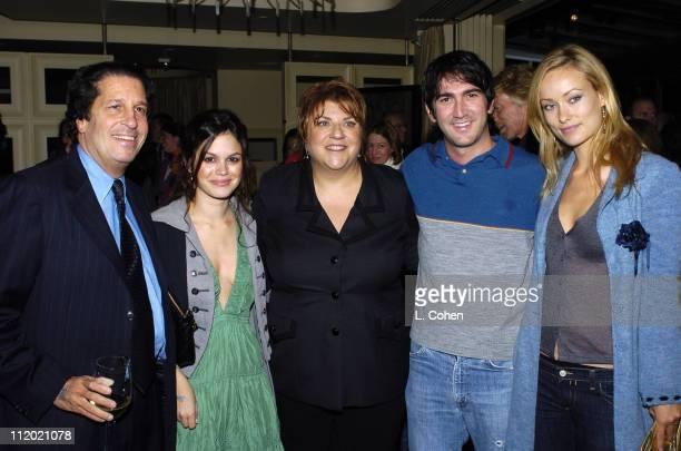 Peter Roth of Fox Rachel Bilson of The OC Gail Berman president of 20th Century Fox Josh Schwartz executive producer of The OC and Olivia Wilde of...