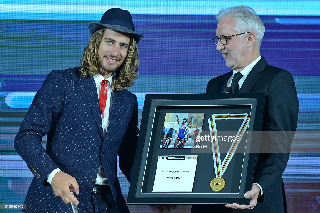 Peter Sagan receives two Awards for 2016 achievements : News Photo