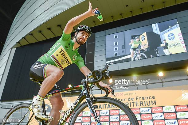 Peter Sagan a Slovak professional road bicycle racer for UCI ProTeam Tinkoff ahead of the Point Race at the fouth edition of the Tour de France...