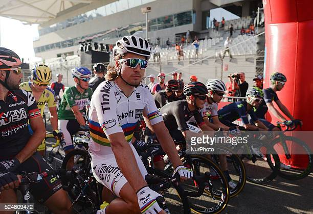 Peter Sagan at the Yas Marina Circuit ahead of the final stage of the Abu Dhabi Tour 2015 Abu Dhabi UAE on 11 October 2015 Photo by Artur Widak