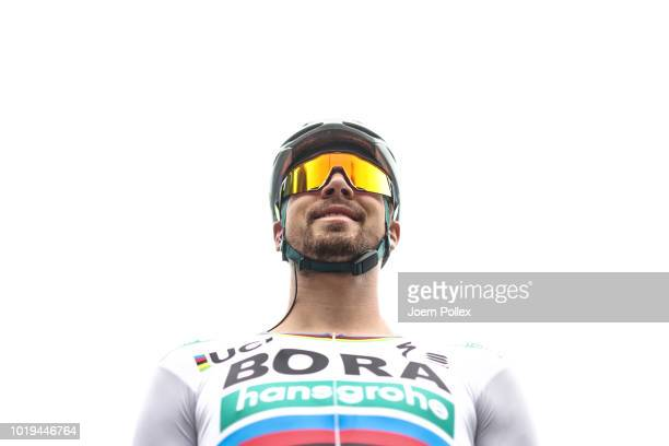 Peter Sagan is pictured before the EuroEyes CYCLASSICS 2018 on August 19, 2018 in Hamburg, Germany.