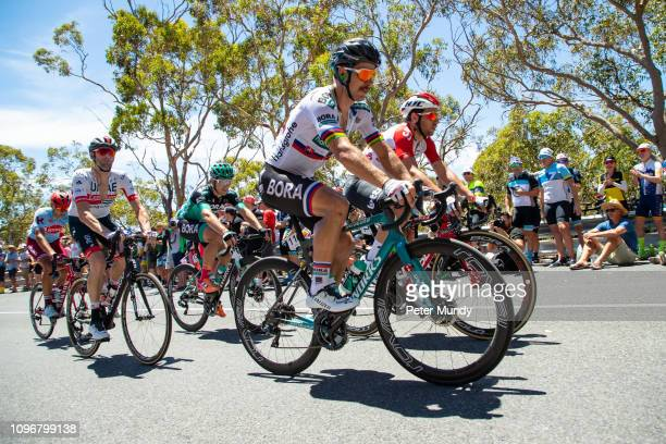 ADELAIDE AUSTRALIA JANUARY 20 Peter Sagan of Slovakia and BORAhansgrohe on the Old Willunga Hill climb during Stage 6 from McLaren Vale to Willunga...