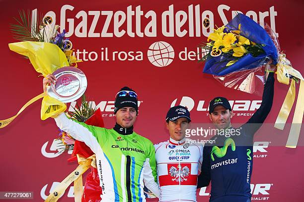 Peter Sagan of Slovakia and Cannondale Michal Kwiatkowski of Poland and Omega PharmaQuickStep and Alejandro Valverde Belmonte of Spain and the...