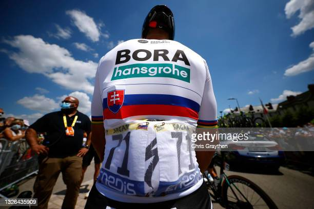 Peter Sagan of Slovakia and Team BORA - Hansgrohe at start during the 108th Tour de France 2021, Stage 6 a 160,6km stage from Tours to Châteauroux /...
