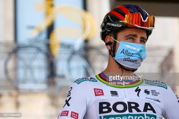 Peter Sagan of Slovakia and Team BORA - Hansgrohe at start during the 108th Tour de France 2021, Stage 11 a 198,9km km stage from Sorgues to...