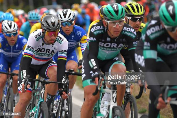 Peter Sagan of Slovakia and Team Bora - Hansgrohe / during the 54th Tirreno-Adriatico 2019, Stage 6 a 195km stage from Matelica to Jesi 92m /...