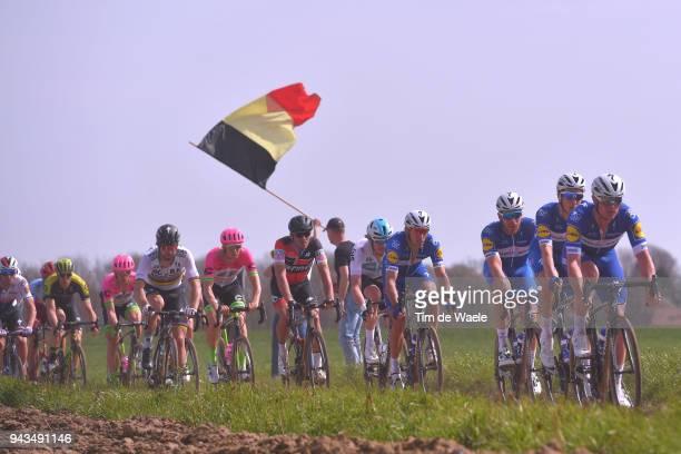 Peter Sagan of Slovakia and Team Bora - Hansgrohe / Greg Van Avermaet of Belgium and BMC Racing Team / Zdenek Stybar of Czech Republic and Team...