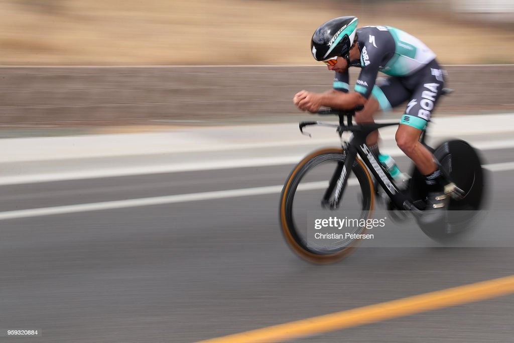 Peter Sagan of Slovakia and Team Bora - Hansgrohe rides during stage four of the 13th Amgen Tour of California 2018 San Jose / Morgan Hill a 34.7 km Individual Time Trial on May 16, 2018 in Morgan Hill, California.