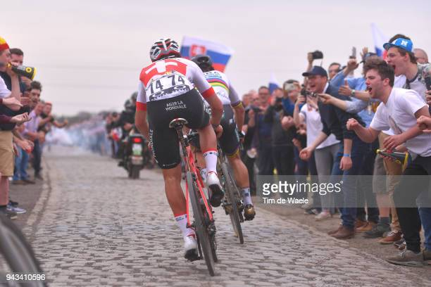 Peter Sagan of Slovakia and Team Bora Hansgrohe / Silvan Dillier of Switzerland and Team AG2R La Mondiale / Carrefour de l'Arbre during the 116th...