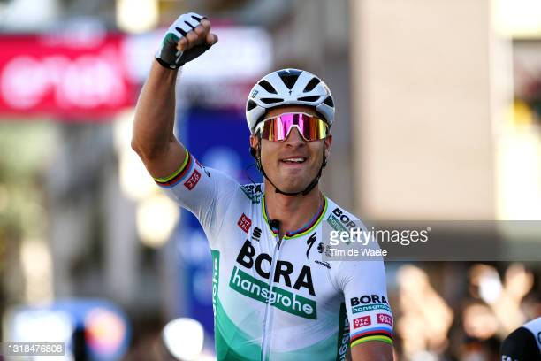 Peter Sagan of Slovakia and Team Bora - Hansgrohe stage winner celebrates at arrival during the 104th Giro d'Italia 2021, Stage 10 a 139km stage from...