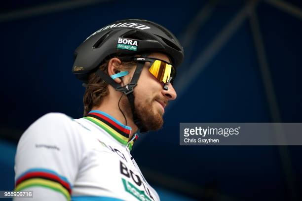 Peter Sagan of Slovakia and Team Bora Hansgrohe stands at the start during stage three of the 13th Amgen Tour of California a 197km stage from King...