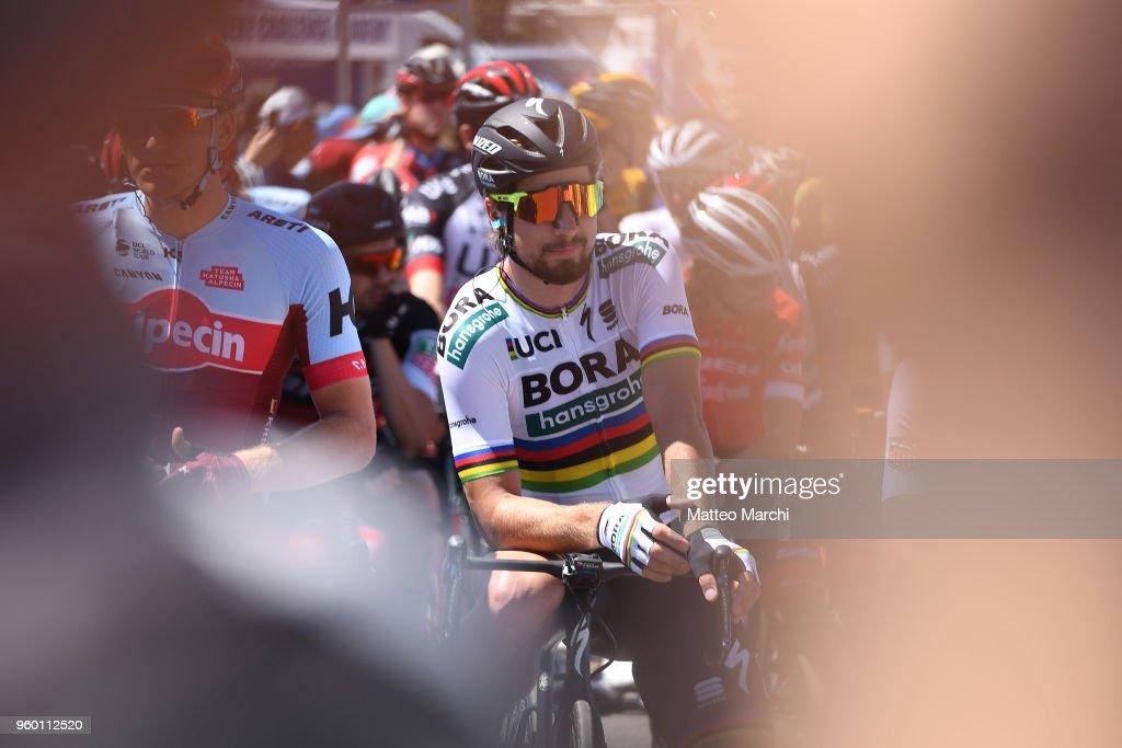 Peter Sagan of Slovakia and Team Bora-Hansgrohe before ...