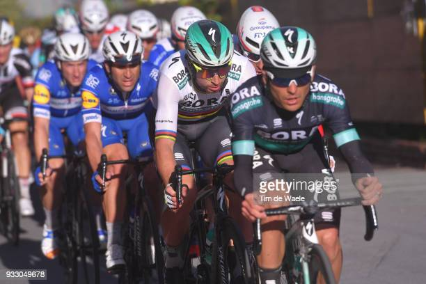 Peter Sagan of Slovakia and Team BoraHansgrohe / during the 109th MilanSanremo 2018 a 291km race from Milan to Sanremo on March 17 2018 in Sanremo...