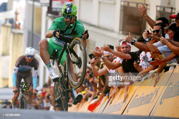 Peter Sagan of Slovakia and Team Bora-Hansgrohe Green Sprint Jersey / Acrobatics / during the 106th Tour de France 2019 - Stage 13 a 27,2km...