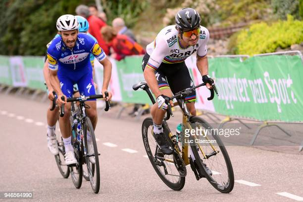 Peter Sagan of Slovakia and Team BoraHansgrohe / Julian Alaphilippe of France and Team QuickStep Floors / during the 53rd Amstel Gold Race 2018 a...