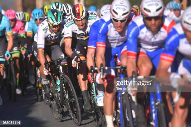 Peter Sagan of Slovakia and Team BoraHansgrohe / Marcus Burghardt of Germany and Team BoraHansgrohe / during the 109th MilanSanremo 2018 a 291km race...