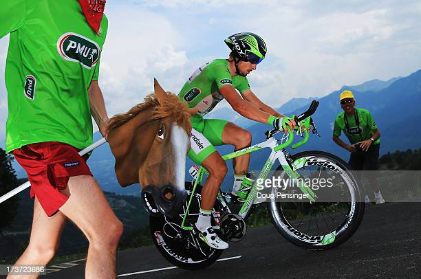 Peter Sagan of Slovakia and Team Cannondale rides during stage seventeen of the 2013 Tour de France, a 32KM Individual Time Trial from Embrun to...