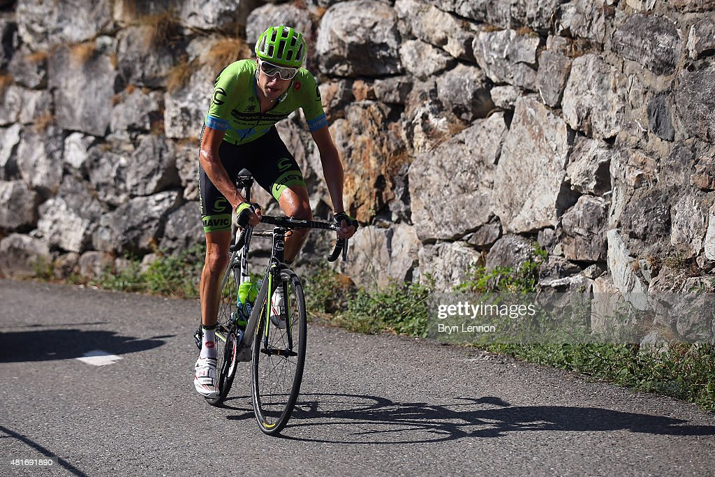 Peter Sagan of Slovakia and Tinkoff-Saxo in action during Stage Eighteen of the 2015 Tour de France, a 186.5km stage between Gap and Saint-Jean-de-Maurienne on July 23, 2015 in Gap, France.