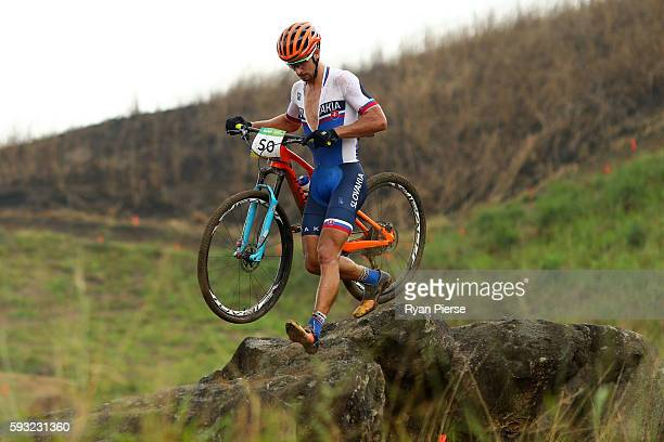 Peter Sagan of Slovakia competes during the Men's CrossCountry on Day 16 of the Rio 2016 Olympic Games at Mountain Bike Centre on August 21 2016 in...