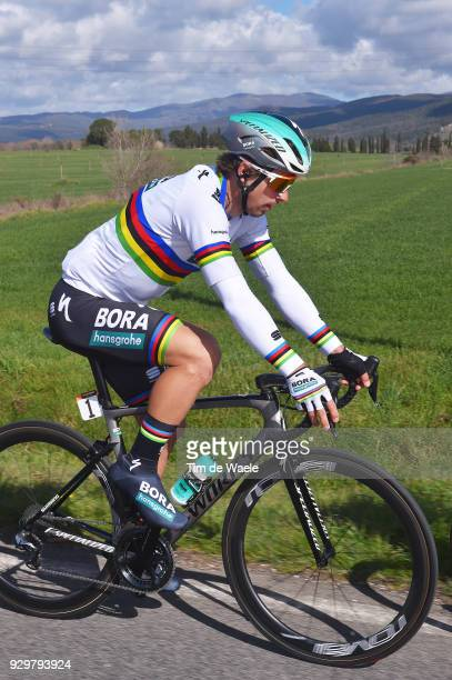 Peter Sagan of Slovakia / during the 53rd TirrenoAdriatico 2018 Stage 3 a 239km stage from Follonica to Trevi 425m on March 9 2018 in Trevi Italy