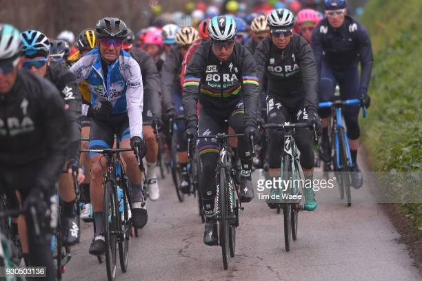 Peter Sagan of Slovakia / Guillaume Boivin of Canada / Peloton / during the 53rd TirrenoAdriatico 2018 Stage 5 a 178km stage from Castelraimondo to...