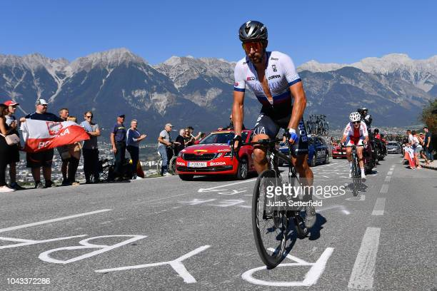 Peter Sagan of Slovakia / Public / Fans / Mountains / during the Men Elite Road Race a 2585km race from Kufstein to Innsbruck 582m at the 91st UCI...