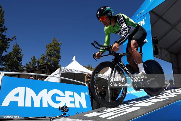 Peter Sagan of Slovakia riding for Bora-Hansgrohe starts during stage five of the AMGEN Tour of California from Ontario to Mt. Baldy on May 18, 2017...