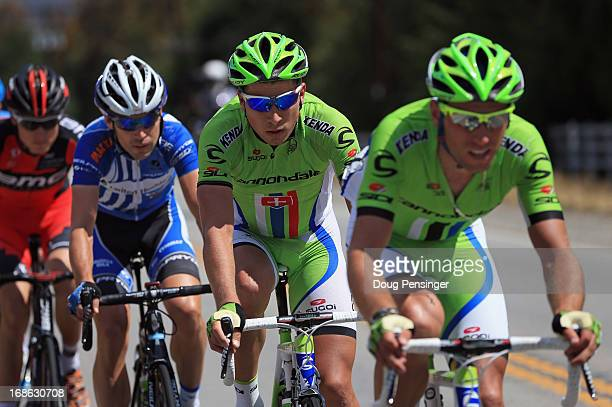 Peter Sagan of Slovakia riding for Cannondale Pro Cycling follows the wheel of his teammate Kristijan Koren of Slovenia riding for Cannondale Pro...
