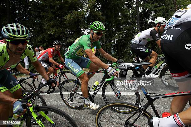 Peter Sagan of Slovakia riding for Tinkoff rides in the peloton during stage ninteen of the 2016 Le Tour de France, a 146km stage from Albertville to...