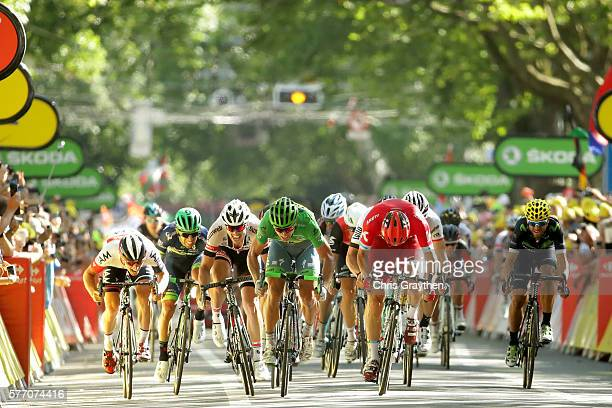 Peter Sagan of Slovakia riding for Tinkoff sprints to win stage 16 of the 2016 Le Tour de France a 209km stage from MoiransEnMontagne to Berne at on...