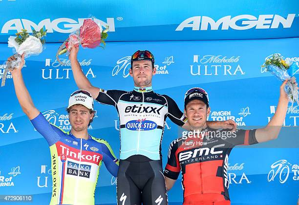Peter Sagan of Slovakia riding for TinkoffSaxo in second place Mark Cavendish of Great Britain riding for EtixxQuick Step in first place and Jempy...