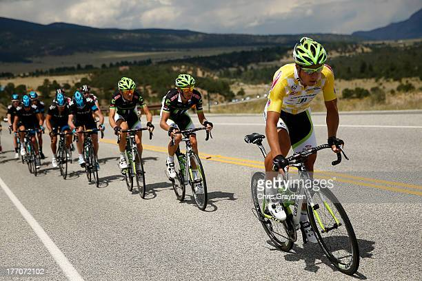 Peter Sagan of Slovokia and Cannondale Pro Cycling rides in the peloton during stage two of the 2013 USA Pro Cycling Challenge on August 20 2013 in...