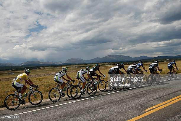 Peter Sagan of Slovokia and Cannondale Pro Cycling rides in the peloton during stage two of the 2013 USA Pro Cycling Challenge on August 20, 2013 in...