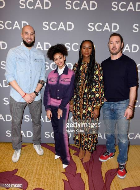 Peter Saji Arica Himmel Tika Sumpter and MarkPaul Gosselaar attend the SCAD aTVfest 2020 Mixedish on February 29 2020 in Atlanta Georgia