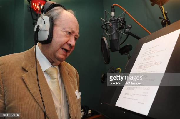 Peter Sallis reads a script on the occasion of his 87th birthday whilst in the studio recording for the forthcoming Wallace Gromit TV special 'A...
