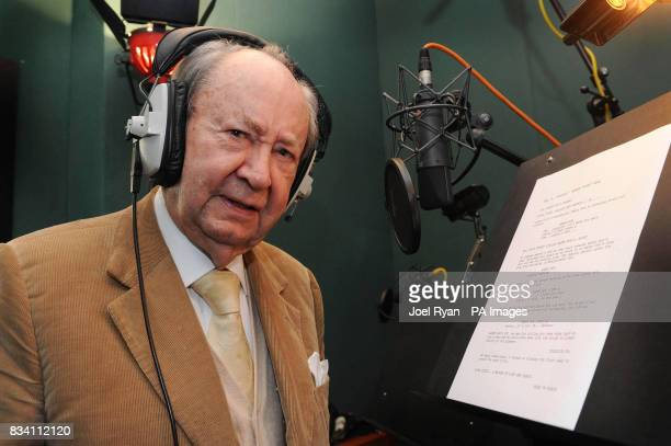 Peter Sallis reads a script on the occasion of his 87th birthday whilst in the studio recording for the forthcoming Wallace amp Gromit TV special 'A...