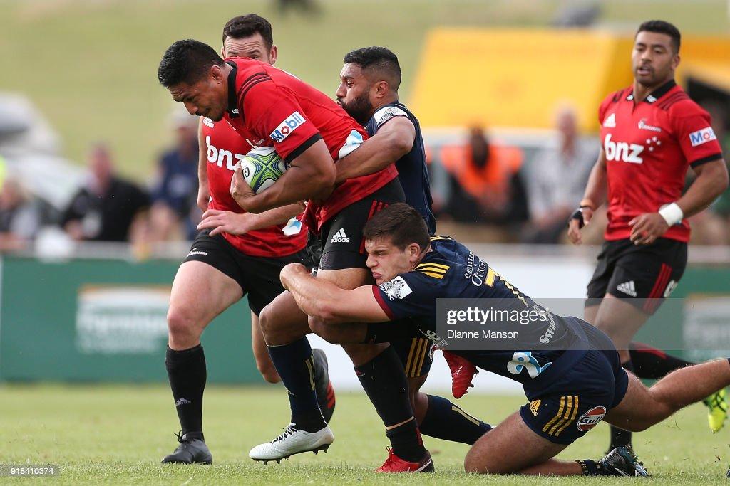 Super Rugby Pre-Season: Highlanders v Crusaders