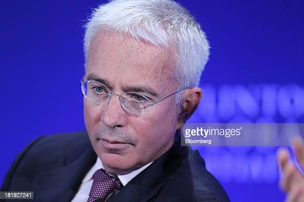Peter Sands chief executive officer of Standard Chartered Plc listens during the annual meeting of the Clinton Global Initiative in New York US on...