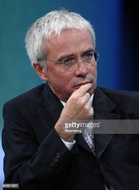 Peter Sands chief executive officer of Standard Chartered PLC listens to other panelist at the Clinton Global Initiative's annual meeting in New York...