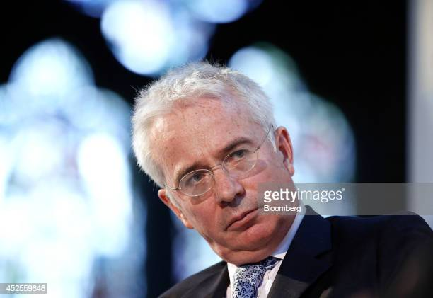 Peter Sands chief executive officer of Standard Chartered Plc sits and listens during the Commonwealth Games Business Conference in Glasgow UK on...