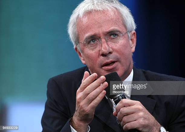 Peter Sands chief executive officer of Standard Chartered PLC speaks at the Clinton Global Initiative's annual meeting in New York US on Friday Sept...