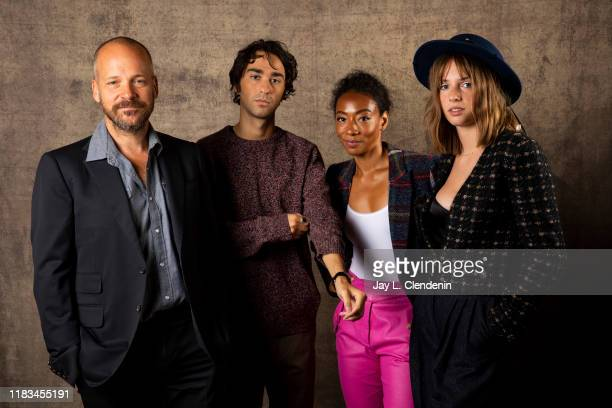 Peter Sarsgaard, Alex Wolff, Betty Gabriel and Maya Hawke from 'Human Capital' are photographed for Los Angeles Times on September 10, 2019 at the...