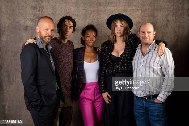 Peter Sarsgaard, Alex Wolff, Betty Gabriel, Maya Hawke and director Marc Meyers from 'Human Capital' are photographed for Los Angeles Times on...